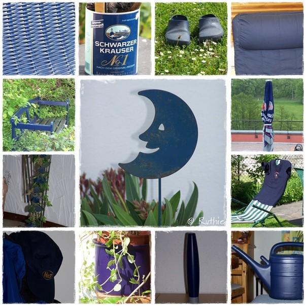 Collage, dkl'blau